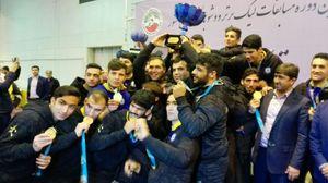 عکس/ جشن قهرمانی تیم قهرمان لیگ برتر ووشو