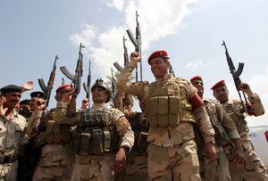 شعارجالب سربازان عراقی در حمایت از آیتالله سیستانی +فیلم