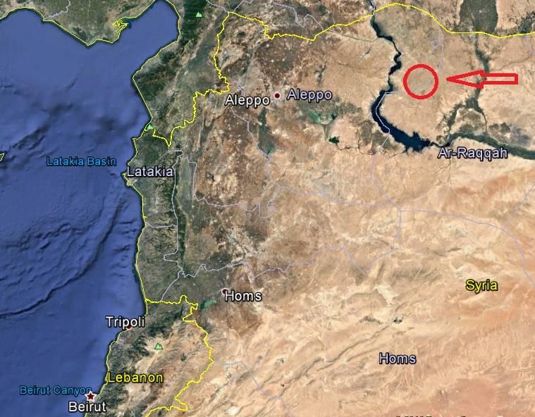 موقعیت پایگاه ارتش آمریکا در شمال سوریه