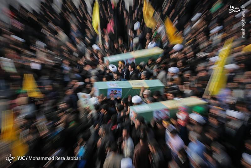 تشییع پیکر ۶ شهید مدافع حرم در قم