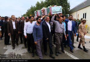 عکس/ ورود پیکرهای سه شهید گمنام به بوشهر