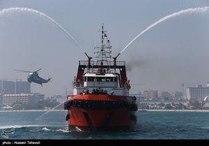 عکس/ مانور امداد و نجات و ایمنی دریایی در کیش