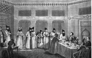 خدمات متقابل نایب السلطنه عباس میرزا به استعمار بریتانیا چه بود؟