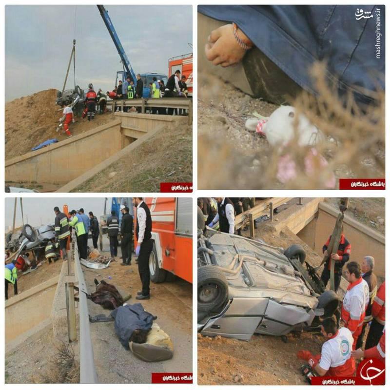 چهار کشته بر اثر واژگونی خودروی 405