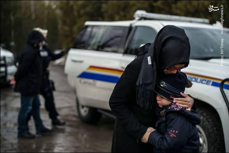 دستگیری خانواده مسلمان حین عبور از مرز آمریکا به کانادا- نیویورکتایمز