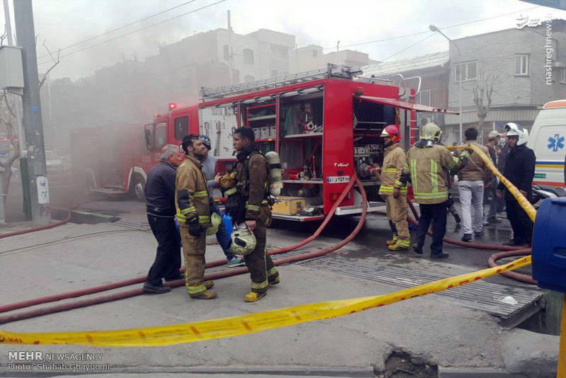 آتش سوزی در انبار لوازم خانگی