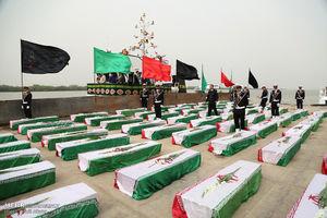 ورود پیکر ۱۶۵ شهید دوان دفاع مقدس به کشور