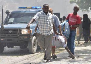 عکس/ انفجار تروریستی خونین در سومالی