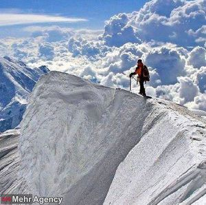 عکس/ کوههای پوشیده از برف لرستان