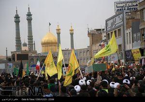 عکس/ تشییع پیکر شهید مدافع حرم در قم