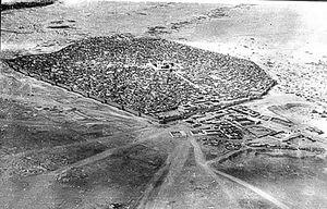 عکس هوایی از نجف، یک قرن پیش