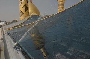 عکس/سقف شیشهای صحن حرم حضرت عباس(ع)