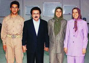 رجوی در دامان صدام