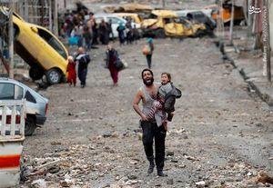 خروج دهها هزار نفر از مناطق جنگزده موصل