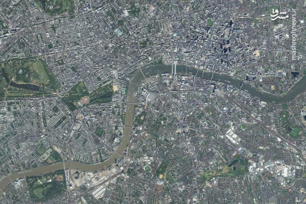 عکس ماهواره ای از شهر لندن