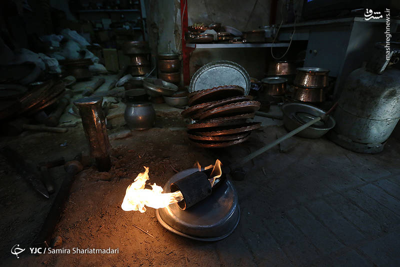 بازار مسگرهای شهر یزد