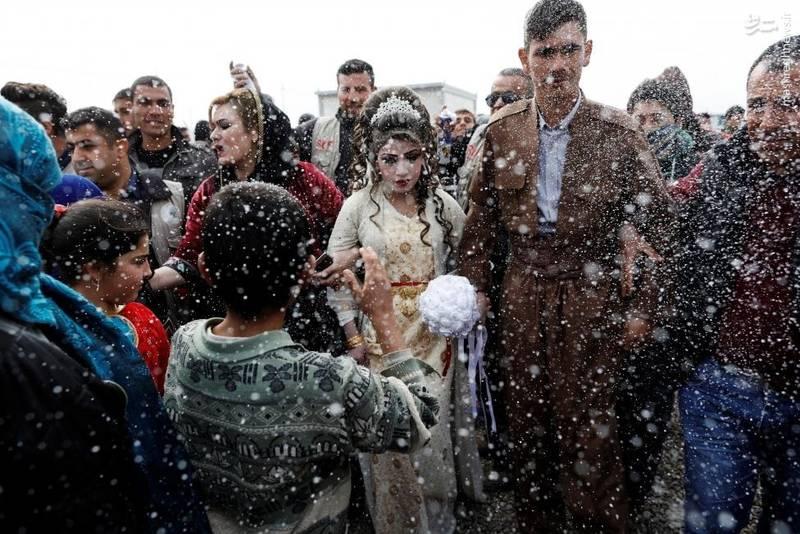 ازدواج دو عراقی در اردوگاه آوارگان