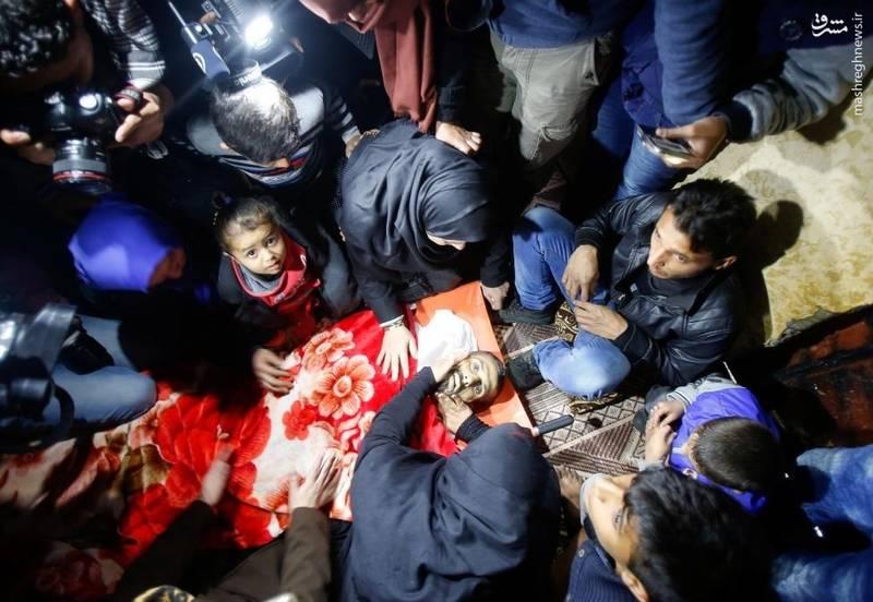 خویشاوندان محمد، شهید فلسطینی، در سوگ او