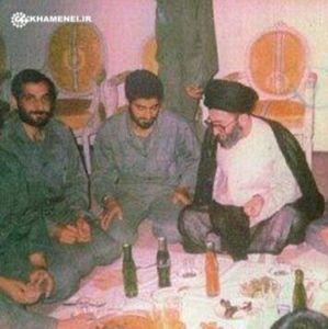 عکس/ شهید باکری و سرلشکر قاسم سلیمانی در کنار رهبرانقلاب