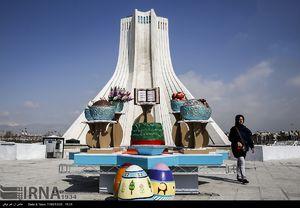 عکس/ نمادهای نوروزی در سطح شهر تهران