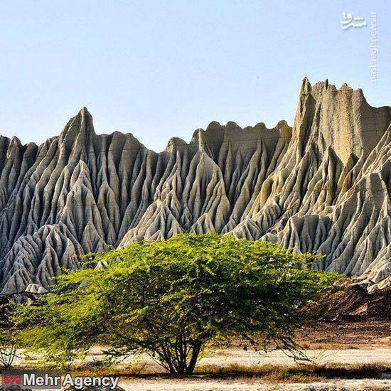 نمایی جادویی از تپههای مریخی چابهار