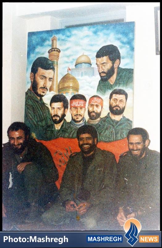 حاج عباس کریمی در کنار شهید سید محمدرضا دستواره