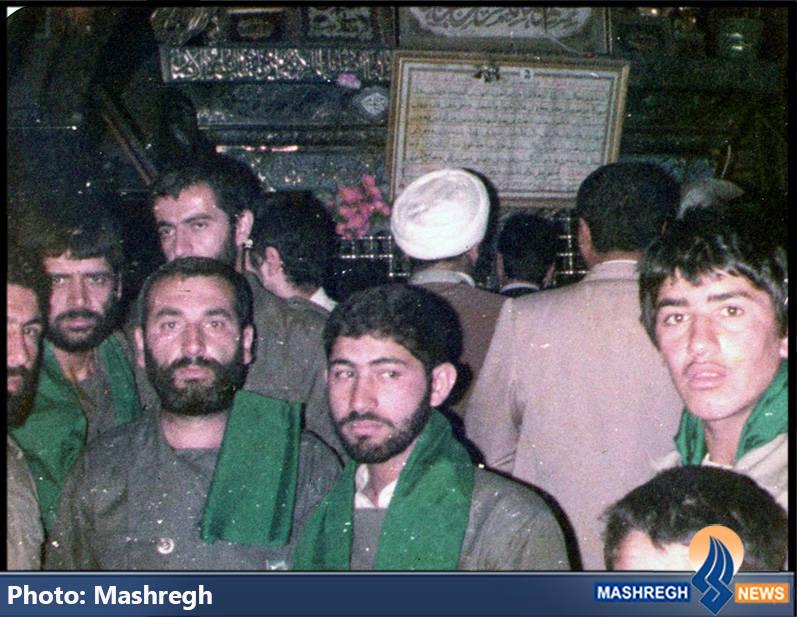 حاج عباس کریمی و شهیدان حاج محمد عبادیان و یدالله کلهر در سوریه