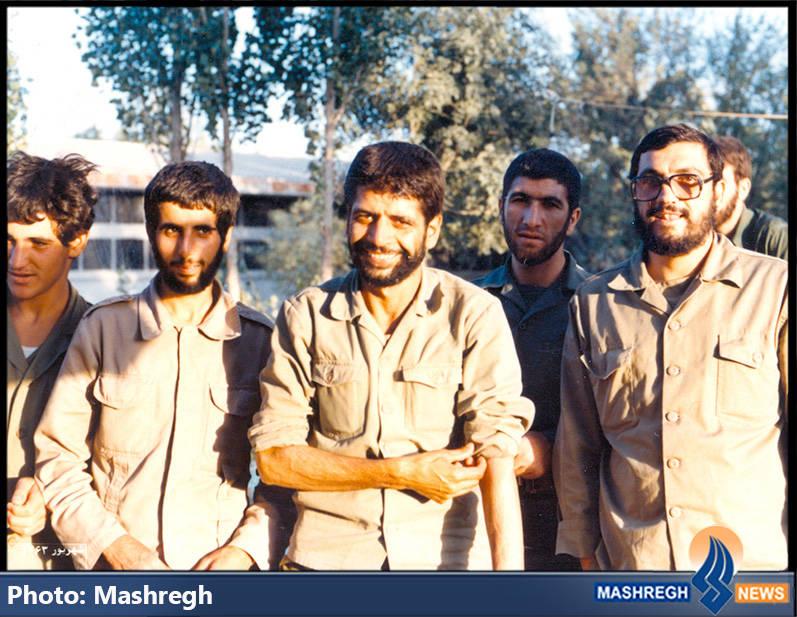 حاج عباس کریمی قهرودی و بسیجیان لشکر