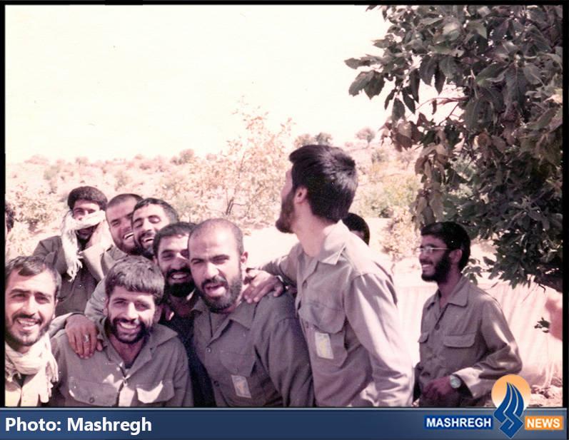 حاج عباس کریمی و شهیدان علی اصغر رنجبران و حمیدرضا زرچینی