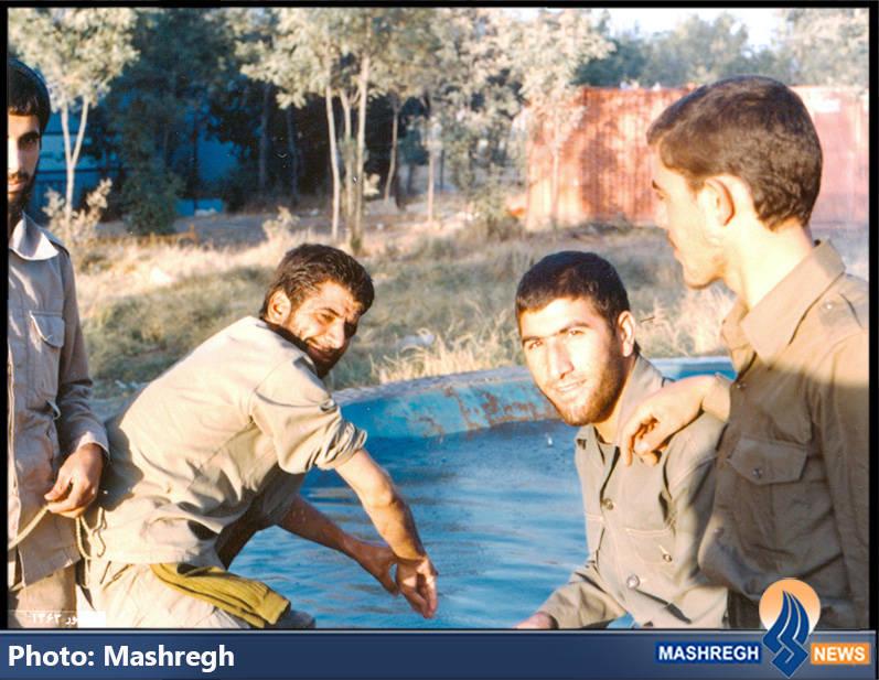 حاج عباس کریمی و بسیجیان در دوکوهه