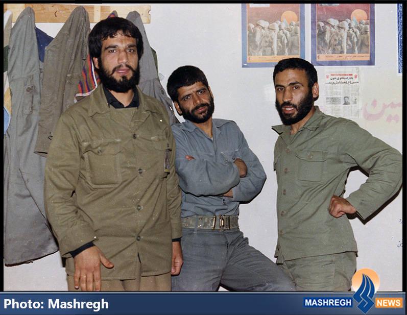 حاج عباس کریمی در جمه همرزمانش