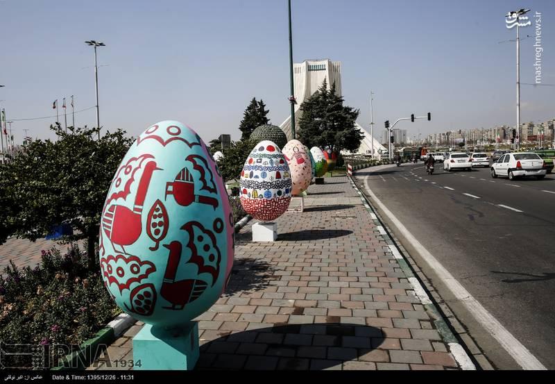 المان های نوروزی در سطح شهر تهران