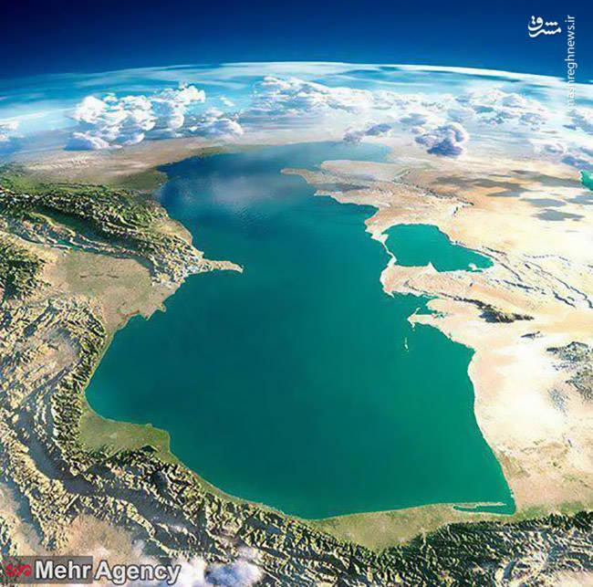 نمایی هوایی و کمنظیر از دریای خزر