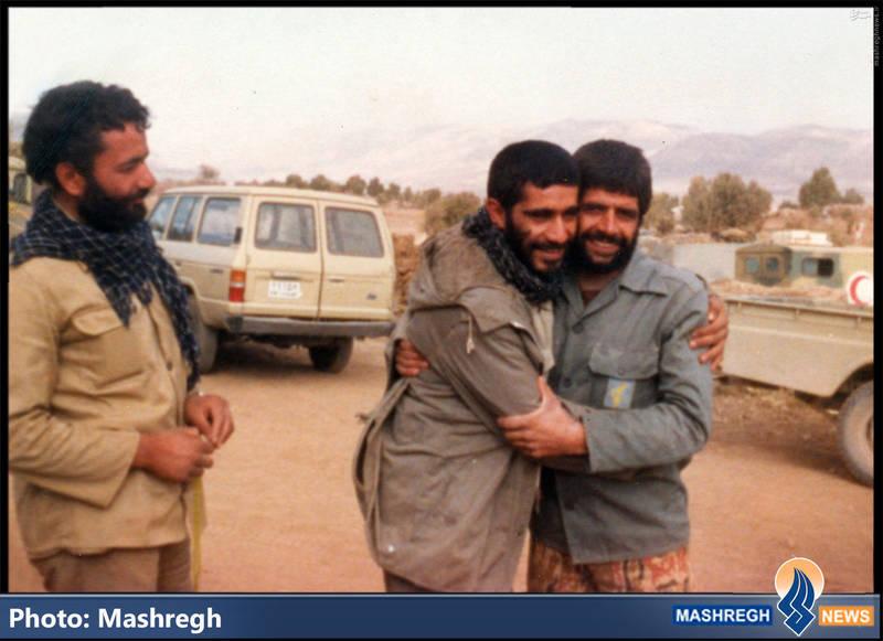 حاج عباس کریمی و شهید سید ابراهیم کساییان و حاج محمود امینی(نفر اول از چپ)