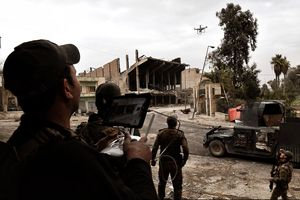 عکس/ استفاده از پهپاد مسلح در جنگ علیه داعش