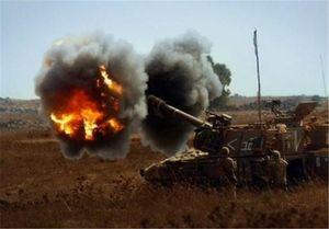توپخانه اسرائیل شمال نوار غزه را هدف قرار داد