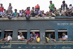 جابجایی متفاوت با قطار در بنگلادش