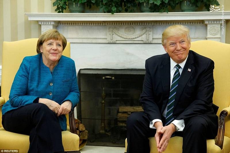 دیدار مرکل و ترامپ امروز در کاخ سفید