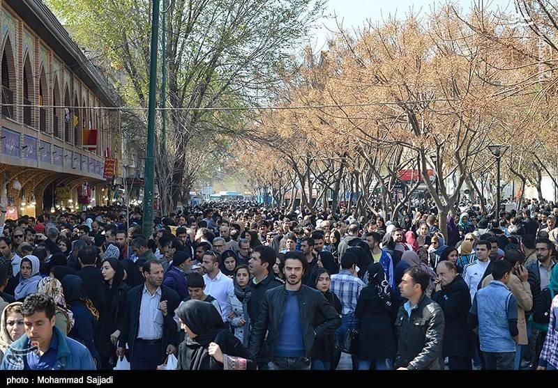 تصاویر شلوغی بازار تهران