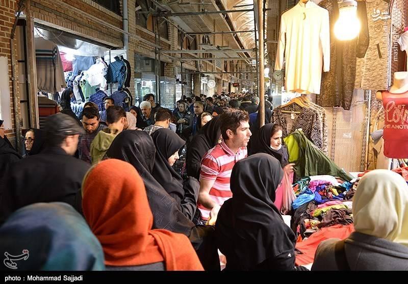 شلوغی بازار تهران در آستانه نوروز