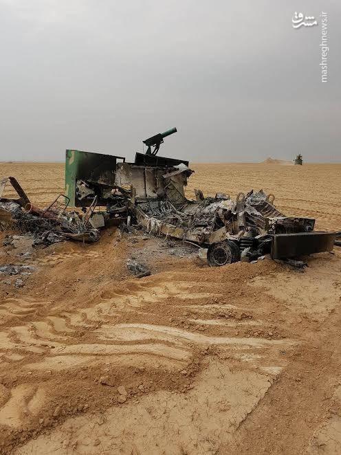 تجهیزات منهدم شده داعش در عملیات موصل
