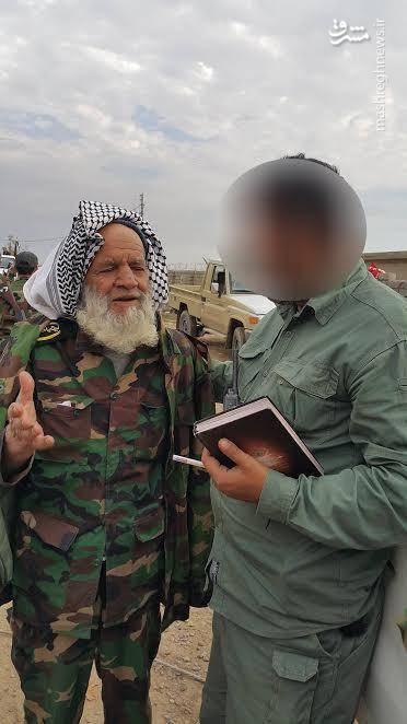 مسن ترین نیروی مبارز در بسیج مردمی عراق
