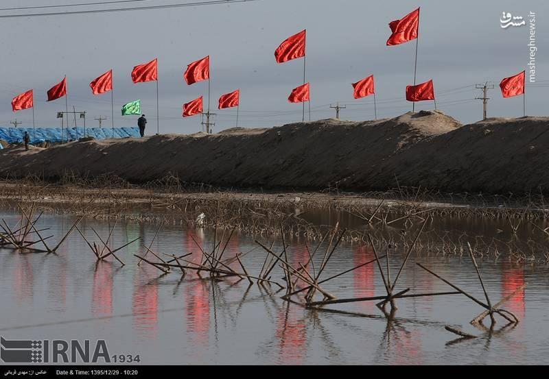 کاروان های راهیان نور در منطقه شلمچه