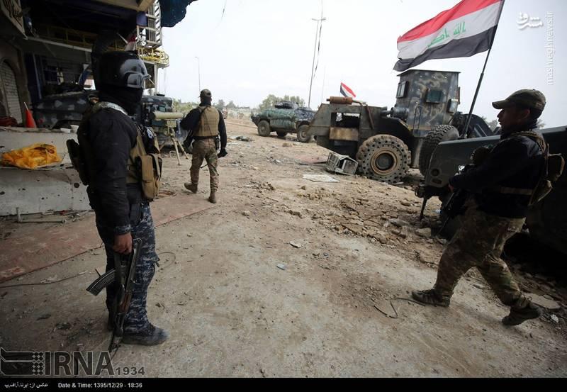 نبرد خانه به خانه ارتش عراق با داعش در غرب موصل