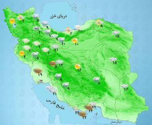 نقشه آب هوای کشور
