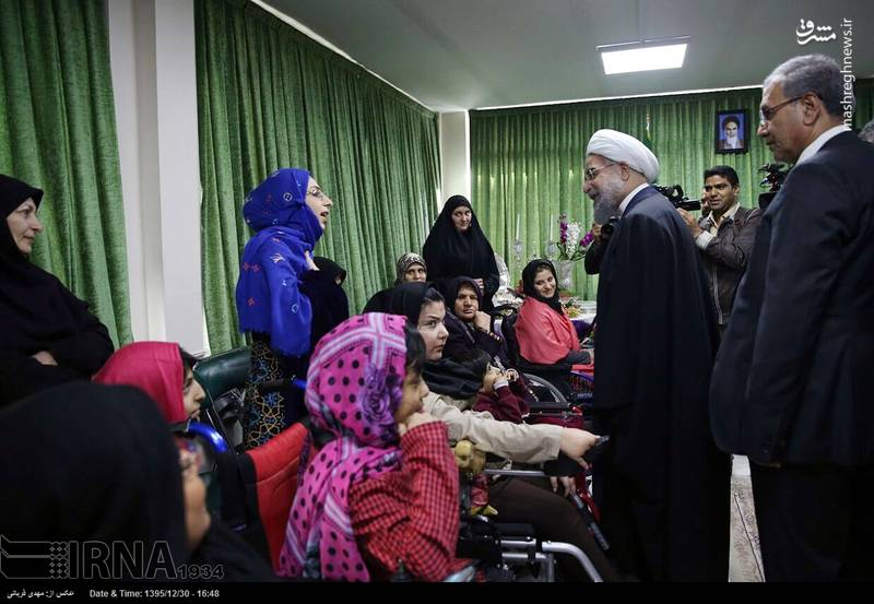 حضور رئیس جمهور در مجتمع توانبخشی شهدای هفت تیر