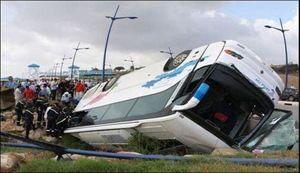 28 کشته و مجروح در تصادف اتوبوس با کامیون
