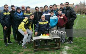 عکس/ جشن تولد حسین فرکی در تمرین سایپا