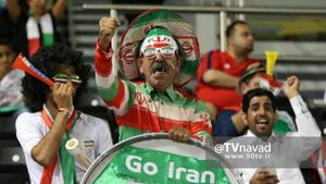 عکس/ هوادار معروف فوتبال ایران در قطر