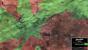 نقشه میدانی دمشق - تصویر متحرک